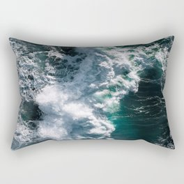 Crashing ocean waves - Ireland's seascapes at sunset Rectangular Pillow