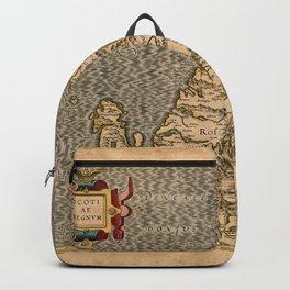 Vintage Map of Scotland Backpack