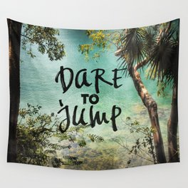 Dare to Jump Wall Tapestry