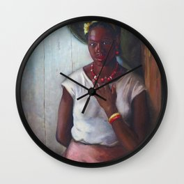 African American Masterpiece 'Katy, Queen of Tennessee' by Frank Stanley Herring Wall Clock