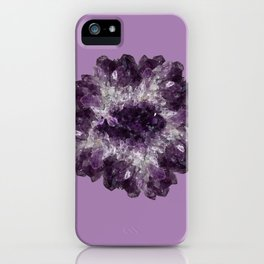 Amethyst Asteroid iPhone Case