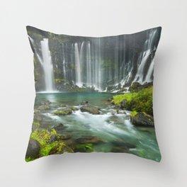 I - Shiraito Falls near Mount Fuji, Japan Throw Pillow