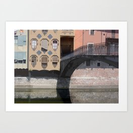 Bridging Calmer Waters Art Print