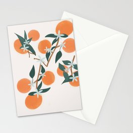 Cream Citrus Blooms Stationery Cards
