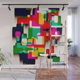 Arcade Crayon Collage Wall Mural