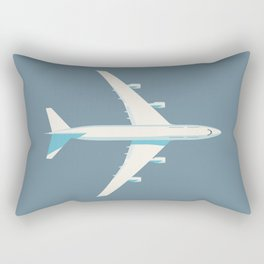 747 Jumbo Jet Airliner Aircraft - Slate Rectangular Pillow