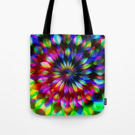 Psychedelic Rainbow Swirl Tote Bag