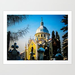 Orthodox Church in Brasov, Romania Art Print