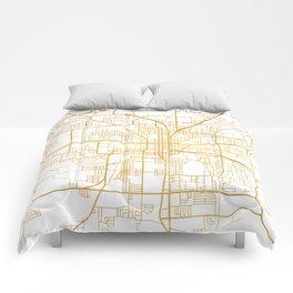 TALLAHASSEE FLORIDA CITY STREET MAP ART Comforters