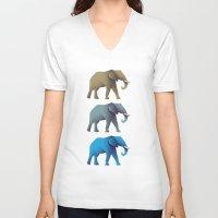 elephants V-neck T-shirts featuring Elephants by designbyash