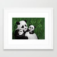 pandas Framed Art Prints featuring Pandas by Jason Bryant Parker