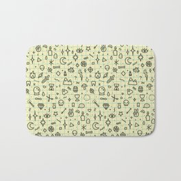 Doodles Pattern Bath Mat