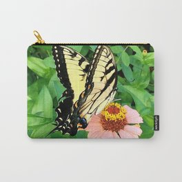Butterfly on Zinnia 4 Carry-All Pouch