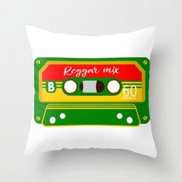 REGGAE MIX TAPE Throw Pillow