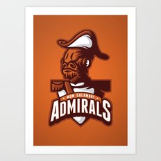 Mon Calamari Admirals on Orange Art Print