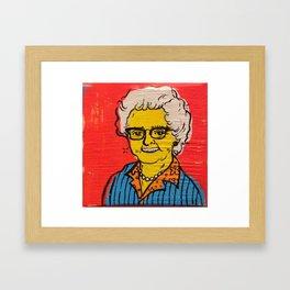 Cool Old Lady  Framed Art Print