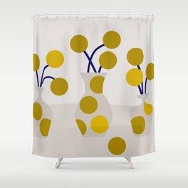 Illustration:cut flowers Shower Curtain