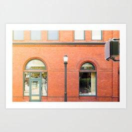 Street photography brick building afternoon I Art Print