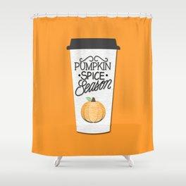 Pumpkin Spice Season Shower Curtain