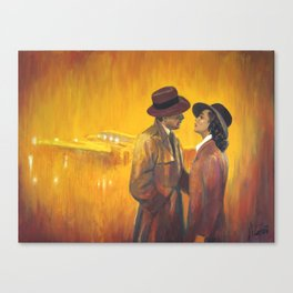 Casablanca film poster - The End Canvas Print
