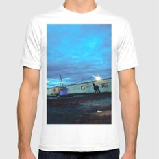 A horse. MEDIUM White Mens Fitted Tee