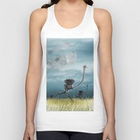 runner Tank Tops featuring Runner by Tony Vazquez