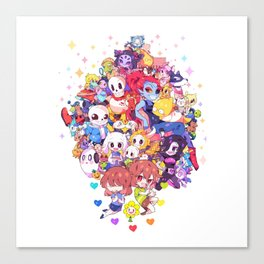 UNDERTALE MUCH CHARACTER Canvas Print
