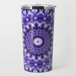 Kaleidoscope Purple Silk Travel Mug