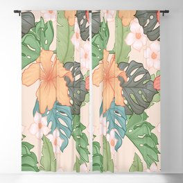 Sweet Pink Blooms Blackout Curtain