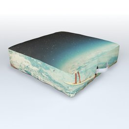 Summer with a Chance of Asteroids Outdoor Floor Cushion