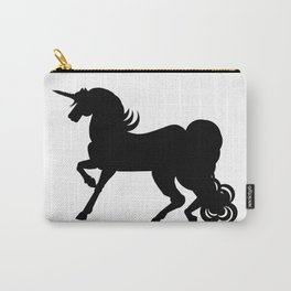 Black Unicorn Silhouette Carry-All Pouch