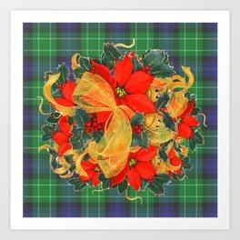 It's A Plaid Plaid Christmas ! Art Print