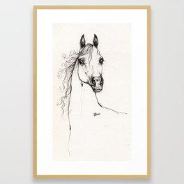 Arabian horse drawing Framed Art Print