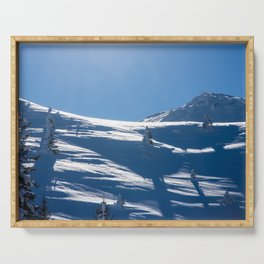 Snowy mountain Serving Tray