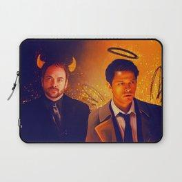 Good & Bad - Supernatural - Castiel Crowley Laptop Sleeve