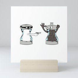 """Cute T-shirt Design Saying """"A Salt with a Deadly Weapon"""" Great Gift For Cooks And Chef Or Cook Lover Mini Art Print"""