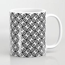 Circular Offset Rings Illusion Pattern Coffee Mug