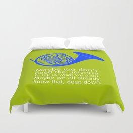 Blue French Horn Duvet Cover