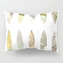 Geography of surfing Pillow Sham