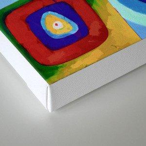 Colorful circles tile Canvas Print