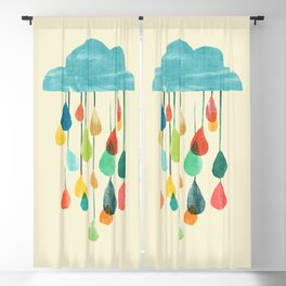 cloudy with a chance of rainbow Blackout Curtain
