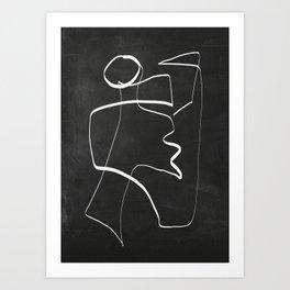 Abstract line art 6/2 Art Print