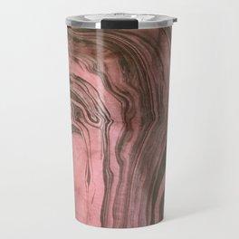 Suminagashi in Red Travel Mug