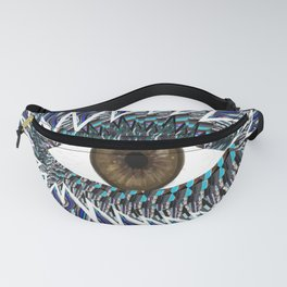 Origami Chakra Eye - Chocolate Brown Black Fanny Pack