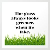 grass Art Prints featuring GRASS by C O R N E L L
