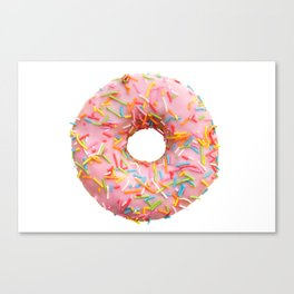 Single pink donut Canvas Print