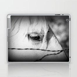Horse's Eye: Black and White Photo Laptop & iPad Skin