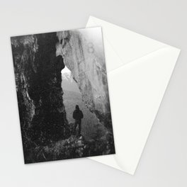 Through the Looking Glass - Black and White Photograph in taken in Oregon Stationery Cards