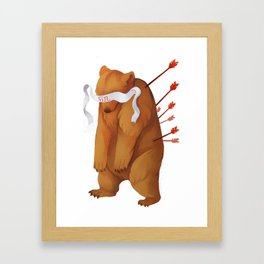 Fin Framed Art Print