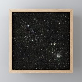 Universe Space Stars Planets Galaxy Black and White Framed Mini Art Print